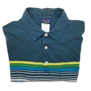 Patagonia Squeaky Clean Blue Polo Small